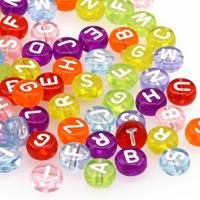 Transparenta bokstavspärlor, färgmix