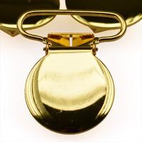 Metallclips rund, guld
