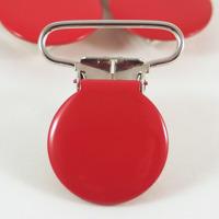 Metallclips rund, röd