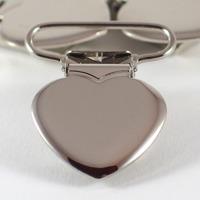 Metallclips hjärta, silver