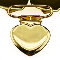Metallclips hjärta, guld