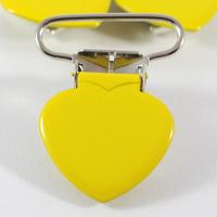 Metallclips hjärta, gul