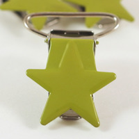 Metallclips stjärna, ljusgrön