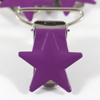 Metallclips stjärna, plommon