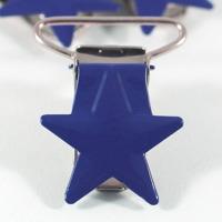 Metallclips stjärna, marinblå