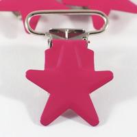 Metallclips stjärna, fuchsia