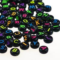 Bokstavspärlor craft-style, svart-neon