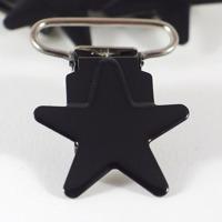 Metallclips stjärna, svart