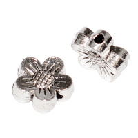 Metallblommor, antiksilver, 8mm