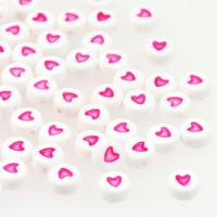Hjärtan vit-knallrosa
