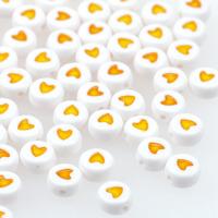 Hjärtan vit-gul