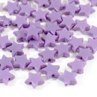 Stjärnor i akryl, lavendel – utförsäljning