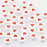 Hjärtan vit-röd