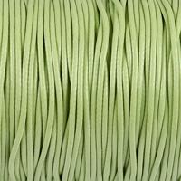 Vaxat polyestersnöre, pistagegrön, 1,5mm
