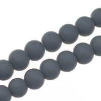 Gummiklädda glaspärlor, rökgrå, 8mm – utförsäljning
