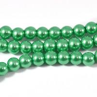 Vaxade glaspärlor, grön, 6mm