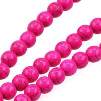 Pärlor i imiterad turkos, knallrosa, 6mm – utförsäljning