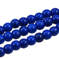 Pärlor i imiterad turkos, mörkblå, 6mm – utförsäljning
