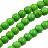 Pärlor i imiterad turkos, grön, 6mm – utförsäljning