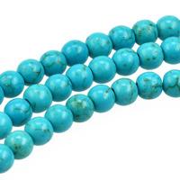 Pärlor i imiterad turkos, ljusblå, 6mm
