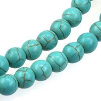 Pärlor i imiterad turkos, turkos, 8mm