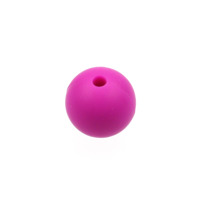 Silikonpärlor 12mm, fuchsia