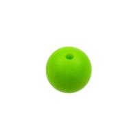 Silikonpärlor 12mm, ljusgrön