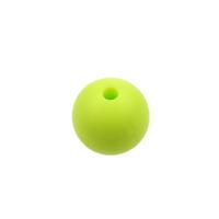 Silikonpärlor 12mm, lime – utförsäljning