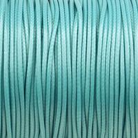Vaxat polyestersnöre, turkos, 1,5mm