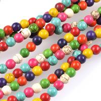 Pärlor i imiterad turkos, mixade, 6mm