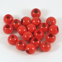 Säkerhetspärlor röd, 10mm
