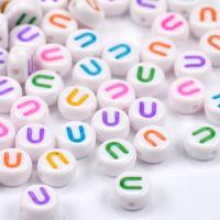Bokstavspärlor vit-färg *U*