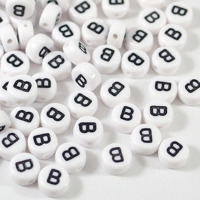 Vita bokstavspärlor *B*