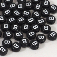 Svarta bokstavspärlor *B*