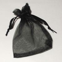 Organzapåse svart 7x9 cm