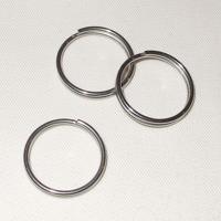 Nyckelring i rostfritt stål, 22mm