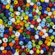 6/0 Seed beads, opaque mix, 4mm