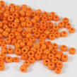6/0 Seed beads, opaque orange, 4mm