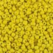 6/0 Seed beads, opaque gul, 4mm