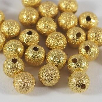 Stardust pärlor guld, 8mm