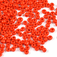 8/0 Seed Beads, opaque röd, 3mm