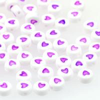 Hjärtan vit-lila