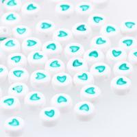 Hjärtan vit-turkos