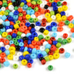 8/0 Seed Beads, opaque mix, 3mm