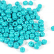 6/0 Seed beads, opaque turkos, 4mm
