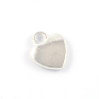 Berlock, hjärta, silver, 10x12mm