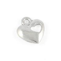 Berlock med utstansat hjärta, silver, 11mm