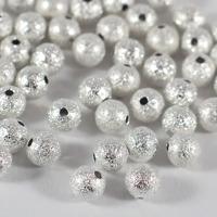 Stardust pärlor silver, 6mm