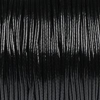 Vaxat polyestersnöre, svart, 1,5mm