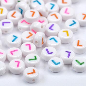 Bokstavspärlor vit-färg *L*